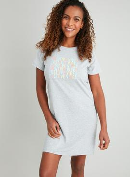 Grey 'Positive Vibes' Nightdress