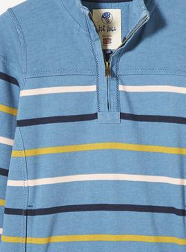 FATFACE Cornflower Airlie Breton Multi Stripe Sweat