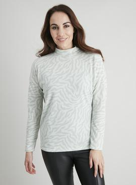 Zebra Print Soft Touch Knitlook Top