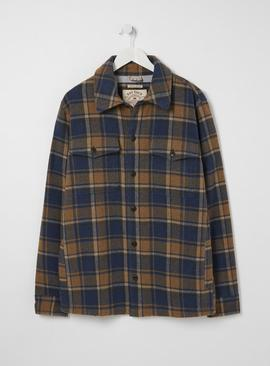 FATFACE Tan Check Overshirt