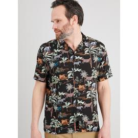 Jungle Print Regular Fit Shirt