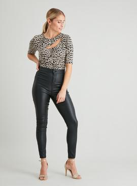 Animal Print Cut-Out Body
