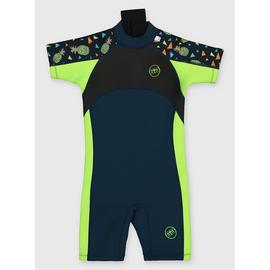 Green Pineapple Short Leg Wetsuit