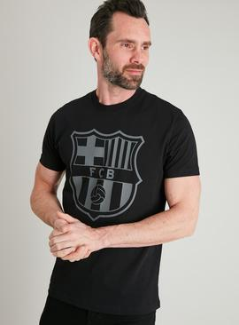 Barcelona FC Black Short Sleeved T-Shirt