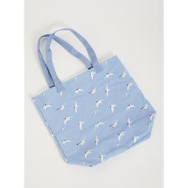 Seagull Print Canvas Bag - One Size