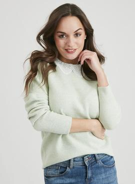 Green Lace Collar Jumper