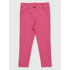 Pink Spot Print Jeggings