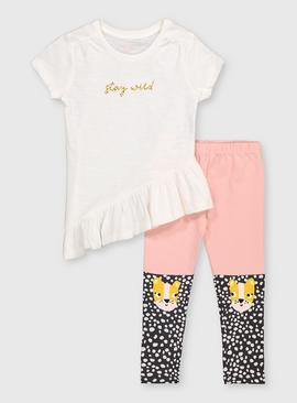 'Stay Wild' Top & Cheetah Leggings Set