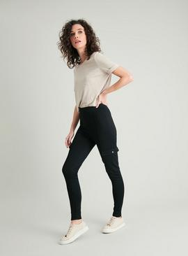 Black Utility Leggings