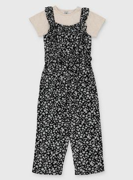 Floral Jumpsuit & T-Shirt Set