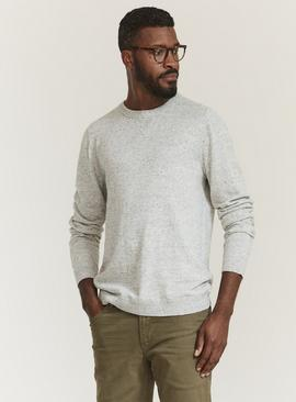FATFACE Grey Crew Neck Jumper