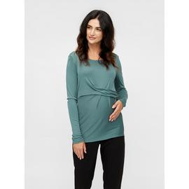 Blue Pleat Detail Maternity Top