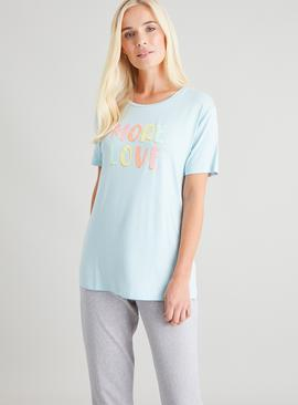 Blue 'More Love' Pyjama Top
