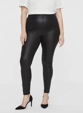 Black Coated Leggings