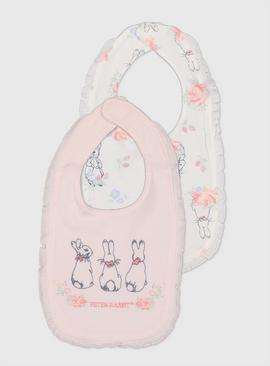 Peter Rabbit Pink Bibs 2 Pack - One Size