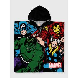 Marvel Avengers Hooded Towel Poncho - One Size