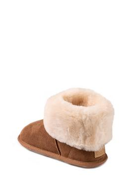 Chestnut Albery Sheepskin Slipper Boot