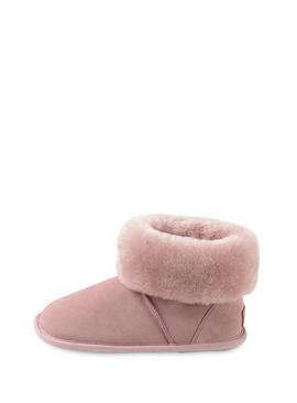 Rose Pink Albery Sheepskin Slipper Boot