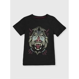 Baboon Graphic Black T-Shirt
