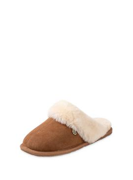 Chestnut Victoria Sheepskin Mule Slippers