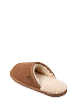 Chestnut Carlton Sheepskin Mule Slippers