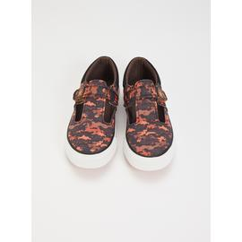 Graphic Printed T-Bar Shoes