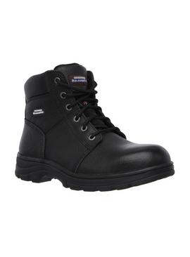 SKECHERS Black Workshire Lace Up Safety Boot