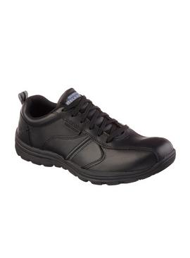 SKECHERS Black Hobbes Frat Lace Up Work Shoe