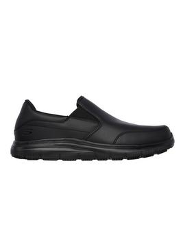 SKECHERS Black Flex Advantage SR Bronwood Slip On Shoe