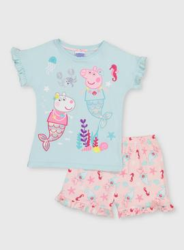 Peppa Pig Blue & Pink Shortie Pyjama Set