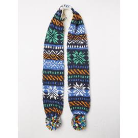 FATFACE Fair Isle Knitted Scarf - One Size