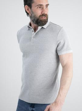 Grey Stripe Polo Shirt