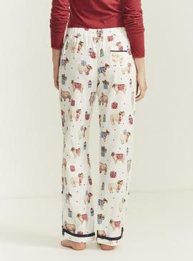 Christmas FATFACE Festive Sheep Print Pyjama Bottoms