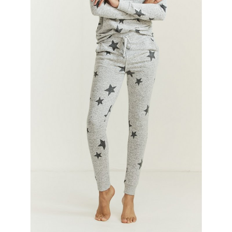 FATFACE Grey Star Print Pyjama Bottoms from Argos