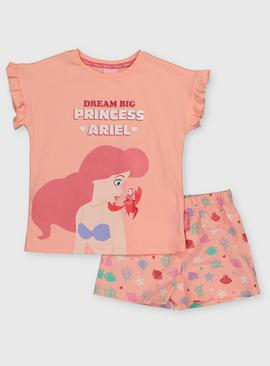 Disney Princess Ariel Coral Shortie Pyjamas