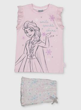 Disney Frozen Lilac & Grey Shortie Pyjamas