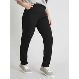 PETITE Black Tapered Ponte Trousers