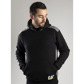 CATERPILLAR Black Logo Panel Hoodie