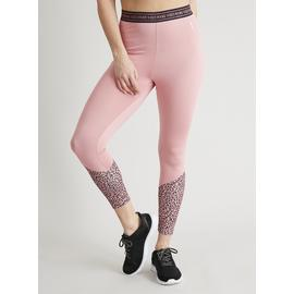 Mini Me Active Pink Leopard 'Wknd Vibes' Leggings