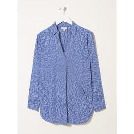 FATFACE Blue Thandie Ditsy Longline Blouse