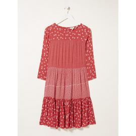 FATFACE Red Emilie Daisy Dress