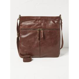 FATFACE Amy Brown Leather Cross Body Bag - One Size