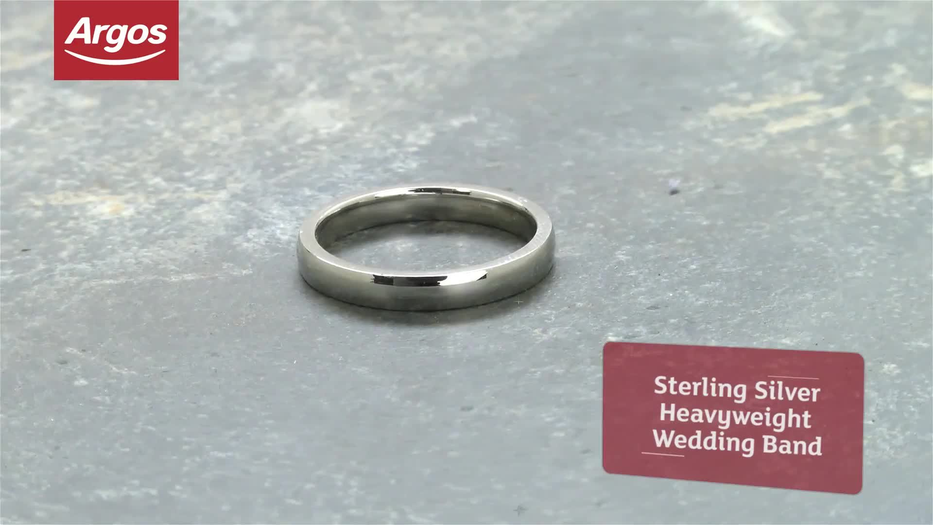 Revere Sterling Silver Heavyweight Wedding Ring - 3mm