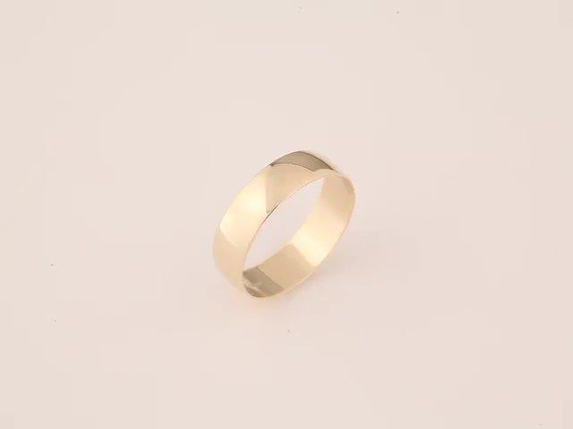 Revere 9ct Gold Plain D-Shape Wedding Ring - 6mm