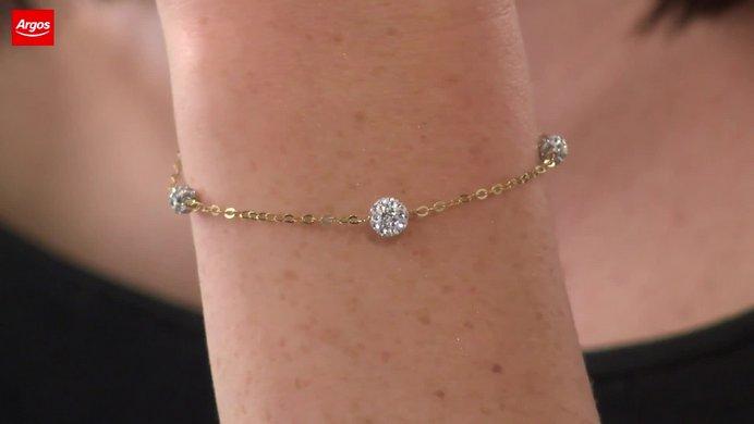 848f7ac66 ... uk buy revere 9ct gold crystal ball bracelet ladies bracelets and  bangles argos b8d13 d34aa ...