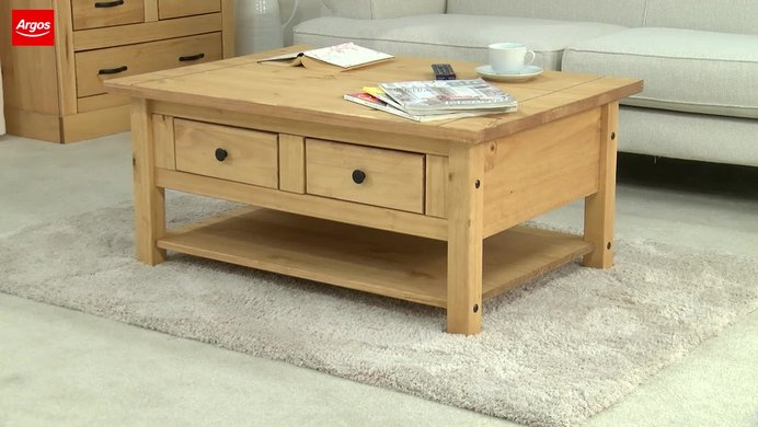 Buy home san diego 2 drawers 1 shelf coffee table pine coffee buy home san diego 2 drawers 1 shelf coffee table pine coffee tables side tables and nest of tables argos aloadofball Image collections