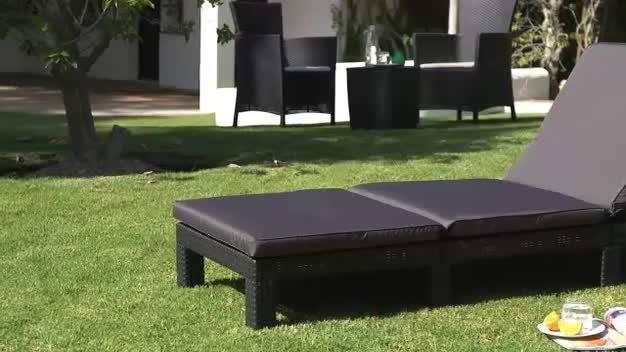 Buy Keter Daytona Rattan Effect Garden Sun Lounger - Graphite at