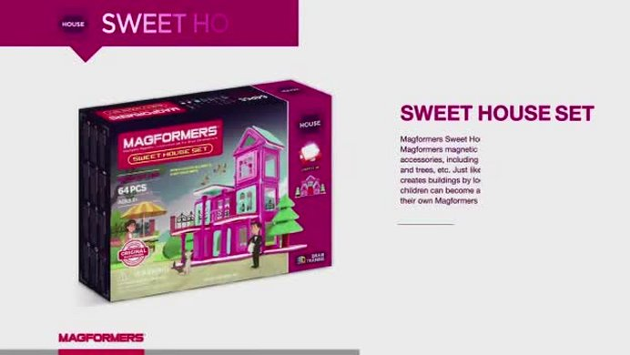 Buy Magformers Sweet House 64 Piece Set Construction Toys Argos