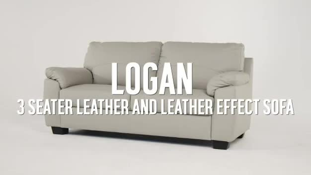 Attirant Buy Argos Home New Logan 3 Seat Leather/Leather Eff Sofa   Black | Sofas |  Argos