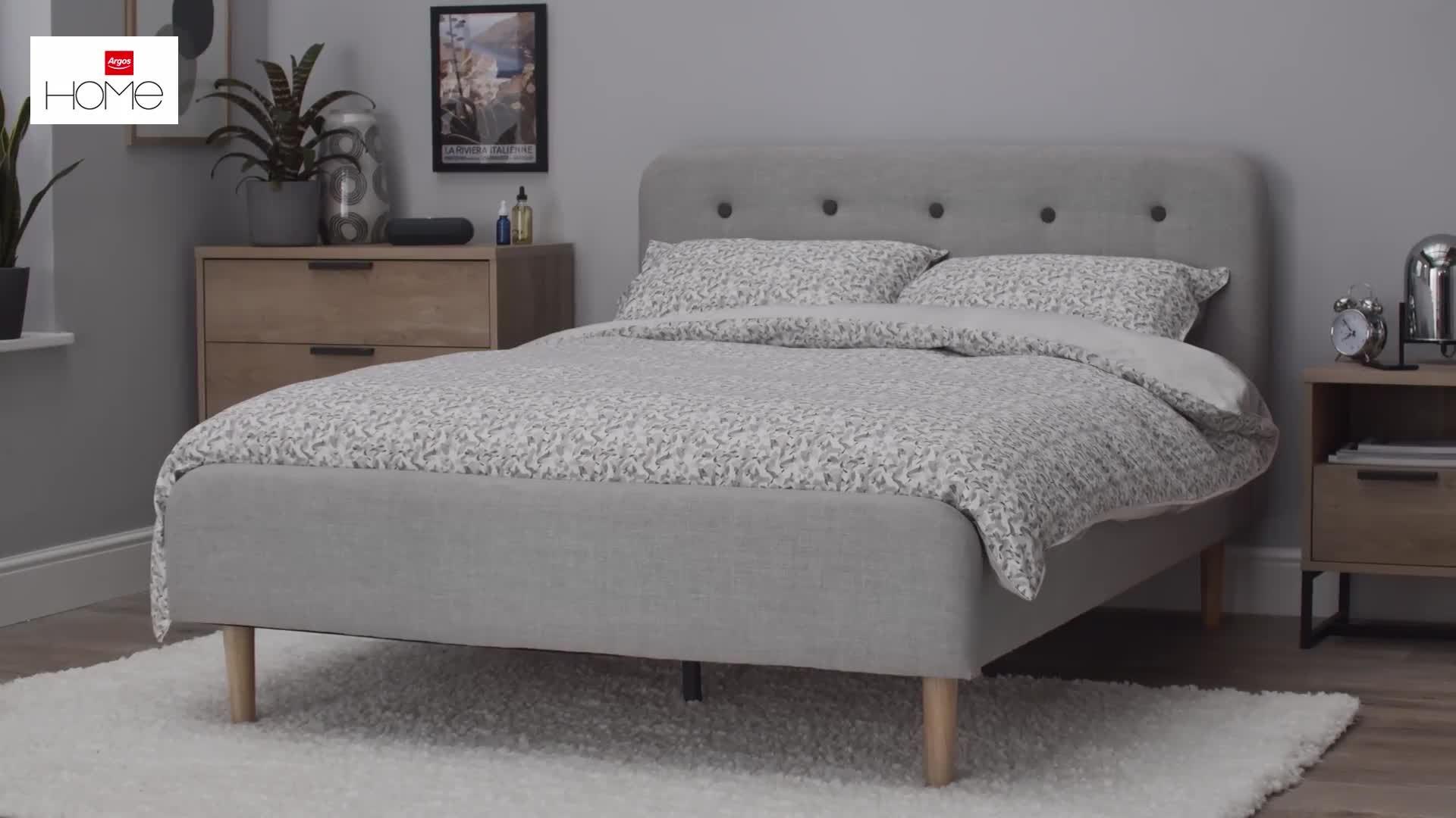 Buy Argos Home Aspen Double Bed Frame - Grey  Bed frames  Argos